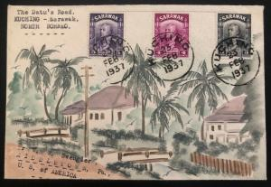 1937 Datu Road Kuching Sarawak Karl Lewis Cover To Middletown PA USA