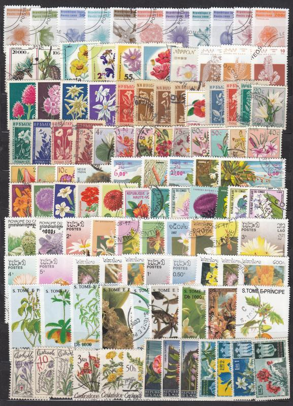 Flowers - 550+++ small stamp lot, FDS - (2243)
