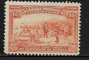 CANADA   102   MINT  HINGED, CHAMPLAIN'S DEPARTURE