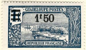 Guadeloupe (Scott #92) Overprint Mint OG VF hr...French Colonies are hot!