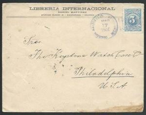 COLOMBIA 1905 5c on cover BUCARAMANGA to USA...............................61293