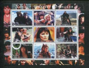 Turkmenistan Commemorative Souvenir Stamp Sheet - Xena Warrior Princess