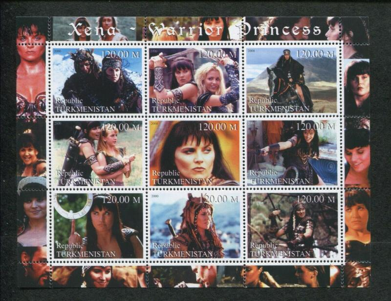 Turkmenistan Commemorative Souvenir Stamp Sheet - Xena Warrior Princess