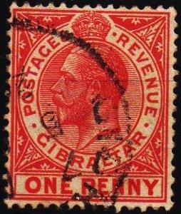 Gibraltar. 1912 1d S.G.90 Fine Used