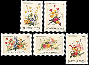 Hungary 3173-3177, MNH, The Art of Flower Arranging