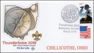 18-110, 2018, Thunderbase, Boy Scouts, Pictorial Postmark, Event Cover, Ohio