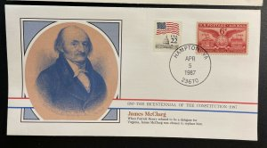 US #C40,2115 Used on Cover - Bicentennial of the Constitution 1787-1987 [BIC2]
