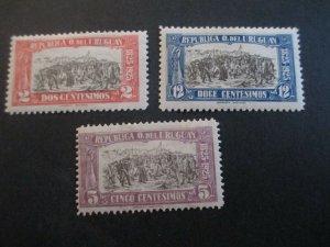 Uruguay #300-02 Mint Hinged WDWPhilatelic (H5K7)