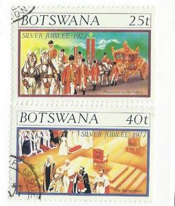 Botswana #180-181 (U) CV $0.65
