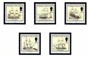 Cayman Is 688-92 MNH 1994 Ships