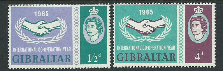 Gibraltar SG 182 & 183 set  Mint Very Light Hinge MVLH