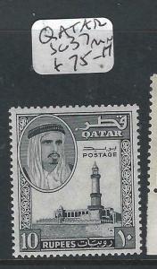 QATAR   (PP2704B)SHEIKH 10R  SG 37  MNH