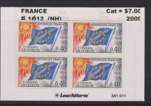 FRANCE STAMPS MNH -OFFICIAL STAMPS 1965-71  BLOCK LOT#F37