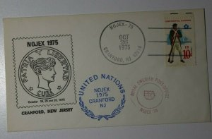 NOJEX Cranford NJ 1975 Philatelic Expo Cachet Cover