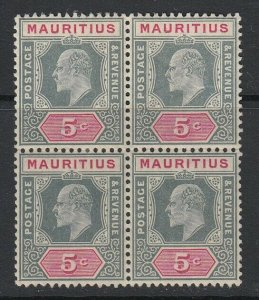 Mauritius, Scott 141 (SG 185), MLH block