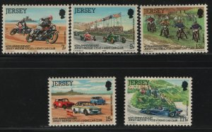 JERSEY, 231-235, (5) SET, MNH, 1980, Jersey motorcycle and light car club