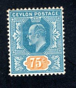Ceylon #175,  VF, Unused, Original Gum, CV $4.00 ....  1290528