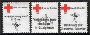 Montenegro 2008 Tuberculosis TBC Red Cross Croix Rouge Rotes Kreuz Cruz Roja MNH