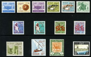 SUDAN 1962 The New Definitive Set to £S1 Camel Post SG 185 to SG 469 MNH