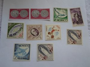 MONACO STAMPS LOT. 10 STAMPS. # 12