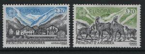 ANDORRA, 344-345, HINGED, 1986, EUROPA