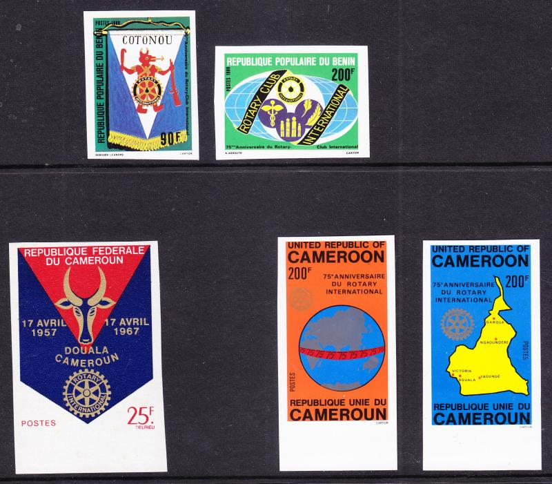 Rotary International Group of 31 Imperfs. from Africa.  VF/NH(**)
