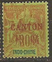 France Off China Canton 7 Cer 9 MLH Fine 1901 SCV $22.50