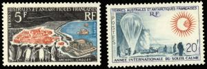 FSAT 1963 QUIET SUN YEAR SET MNH # 23-24 CV$130.00