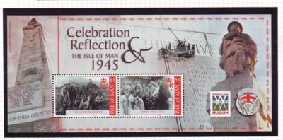 Isle of Man Sc 1091 2005 Victory World War II stamp sheet...