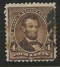 U.S. Scott #222 Stamp - Used Single