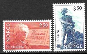 NORWAY 1983 EUROPA Set Sc 823-824 MNH