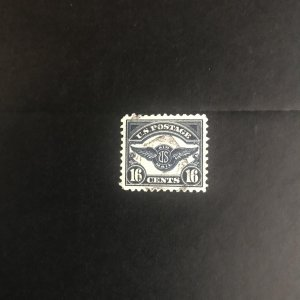 Scott #C5 1923 Airmail 16c Dark Blue Used XF Emblem of Air Service