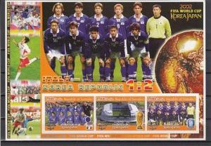 Somalia, 2002 Cinderella issue. World Cup Soccer, IMP sheet. Italian Team shown.
