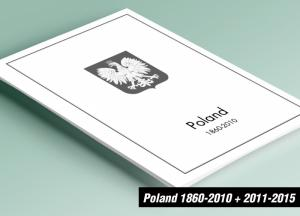 PRINTED POLAND 1860-2010 + 2011-2015 STAMP ALBUM PAGES (626 pages)