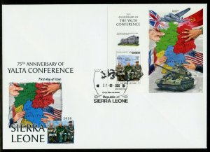 SIERRA LEONE  2020  75th ANNIVERSARY OF THE YALTA CONFERENCE FDR  S/S FDC