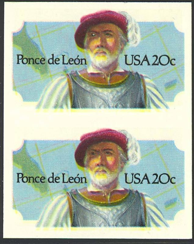 2024a, RARE IMPERFORATE ERROR WITH PFC - PONCE DE LEON