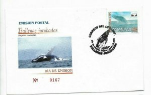 ECUADOR YEAR 2000 WHALES MARINE LIFE BALLENAS JOROBADAS SEA FDC COVER