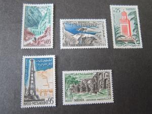 French Algeria 1962 Sc 291-95 set MLH