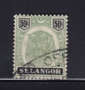 Selangor Scott # 35 VF used neat cancel with nice color cv $ 140 ! see pic !