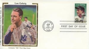 1989 Lou Gehrig Baseball (Scott 2417) Colorano FDC