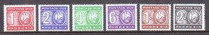 Rhodesia - Scott #J9-J14 - MNH - SCV $17.75