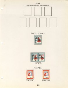 US #XMAS SEALS 1935 perfed and IMPERF BLOCKS(UNLISTED AS SUCH), Mint seals, I...