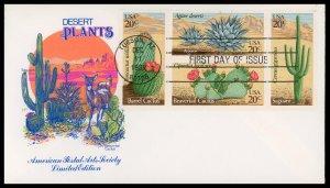 US FDC #1942-1945 4x20c Desert Plants Issue - House of Farnam Cachet