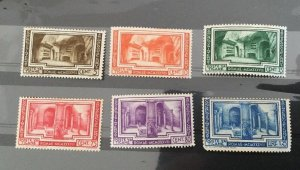 Vatican City Sc# 55-60 MH (Mint Hinged) Complete Set 1938 Some Gum Toning