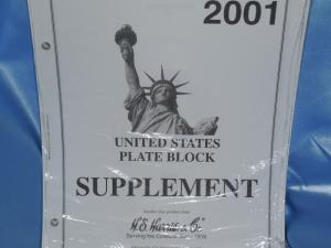 Harris US Plate Block 2001 pages new