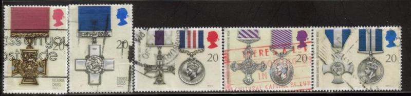 Great Britain Sc 1331-5 1990 Awards stamps used