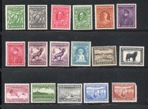 Newfoundland Sc 183-99 1932 long stamp set mint