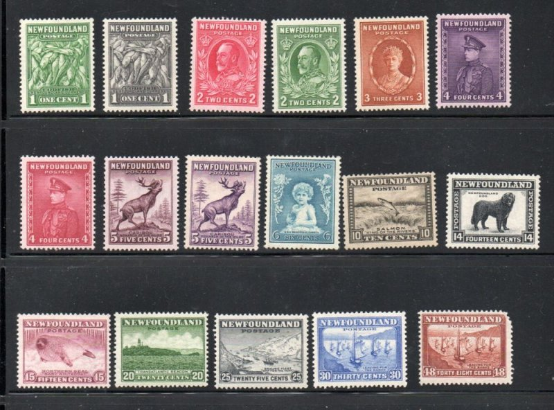 Newfoundland Sc 183-99 1932 long stamp set mint