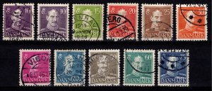 Denmark 1942-46 Christian X Definitives, Part Set excl. 45o [Used]