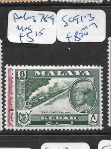 MALAYA  KEDAH  (P2302B)  SG78-9  MOG
